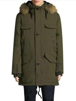 Rainforest Selawik Fur-Trim Parka