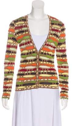Missoni Knit Long Sleeve Cardigan Orange Knit Long Sleeve Cardigan