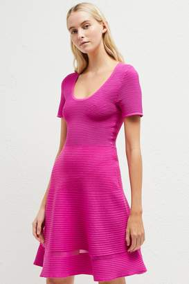Next Womens French Connection Pink Crepe Knit Dress