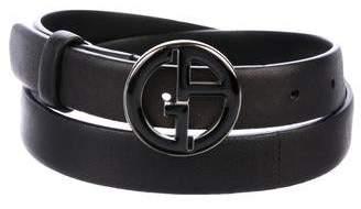 Giorgio Armani Leather Logo Belt