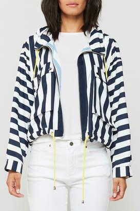 Velvet Heart Gemini Stripe Hoody Rain Jacket
