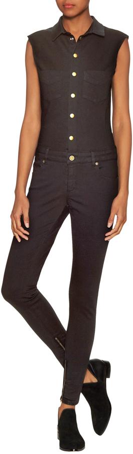 Fine Women's Roxy Cotton Snap Button Jumpsuit