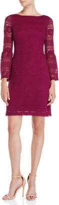 Tommy Hilfiger Lace Bell Sleeve Sheath Dress