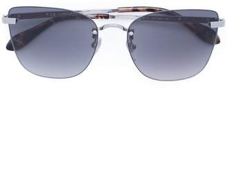 Carolina Herrera rimless aviator sunglasses