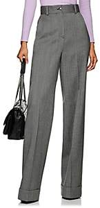 Pt01 Women's Juliet Herringbone Wool Wide-Leg Trousers - Gray