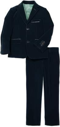 Isaac Mizrahi 2-Piece Solid Velvet Suit (Big Boys)