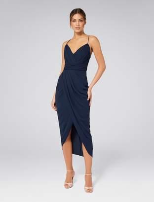 Forever New Charlotte Drape Maxi Dress - Black. - 6