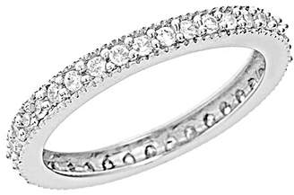 Sterling Forever Women's Sterling Silver Sparkling Cubic Zirconia Band Ring