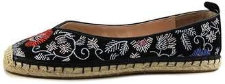 AVEC LES FILLES Womens Gisella Closed Toe Espadrille, Black/Floral, Size 8.5