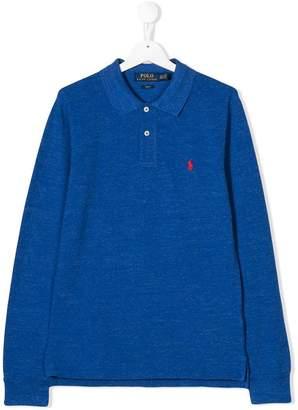 Ralph Lauren Kids TEEN knitted polo shirt