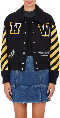 Off-White c/o Virgil Abloh Women's Wool-Blend Varsity Jersey $1,195 thestylecure.com