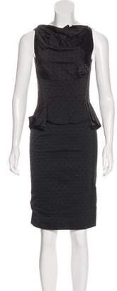 Nina Ricci Polka Dot Sleeveless Dress