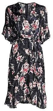 Elie Tahari Women's Floral Wrap Front Dress - Size 0