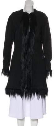 Zadig & Voltaire Suede Knee-Length Coat