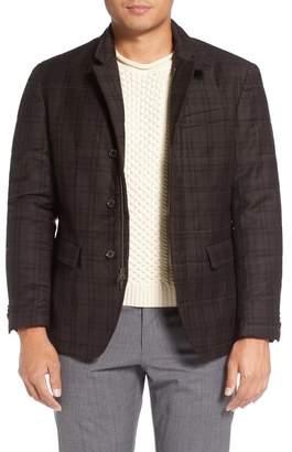Singer + Sergant Quilted Plaid Wool Blazer