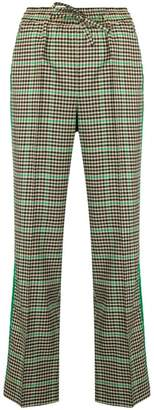 P.A.R.O.S.H. checked drawstring trousers