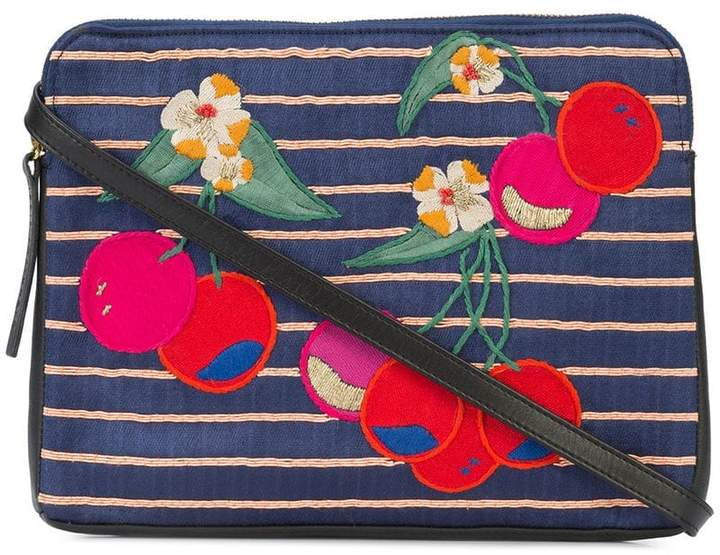 Lizzie Fortunato cherry patch clutch bag