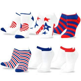 Americana TeeHee Socks TeeHee Novelty Fashion No Show Socks for Women 6-Pack