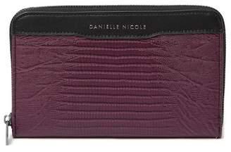 Danielle Nicole Larsen Embossed Zip-Around Wallet