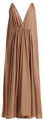Kalita - Clemence Cotton Blend Organza Maxi Dress - Womens - Nude