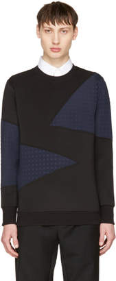 Diesel Black and Navy S-Barbet Sweatshirt