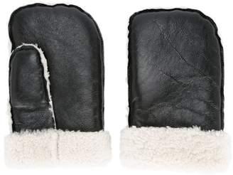 Zambesi shearling-hem mittens