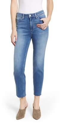 Paige Vintage - Hoxton High Waist Raw Hem Straight Leg Jeans