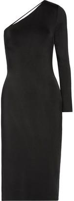 Cushnie et Ochs - Claudia One-shoulder Stretch-satin Jersey Midi Dress - Black $1,650 thestylecure.com