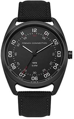French Connection Men's Quartz Metal and Nylon Casual Watch