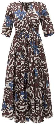 Max Mara S Edita Dress - Womens - Brown Multi