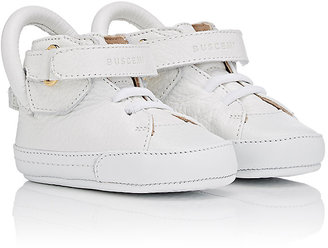 Buscemi 100MM Leather Sneakers $250 thestylecure.com