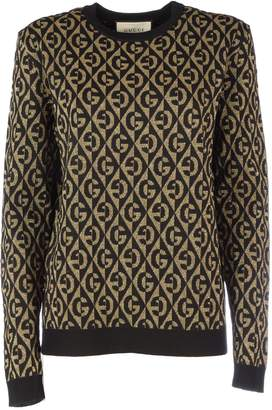 Gucci Crewneck Long Sleeves Logo Gg All Over Lurex