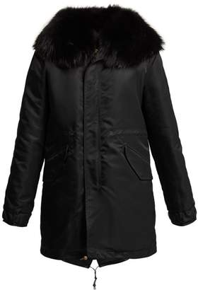 Mr & Mrs Italy - Hooded Quilted Parka Coat - Womens - Black