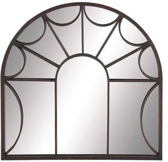 DecMode Decmode Metal Wall Mirror, Black