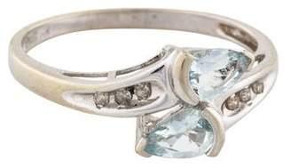 Ring 14K Diamond-Accented Aquamarine Cocktail