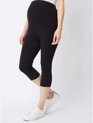 George Maternity Black Over Bump Cropped Leggings