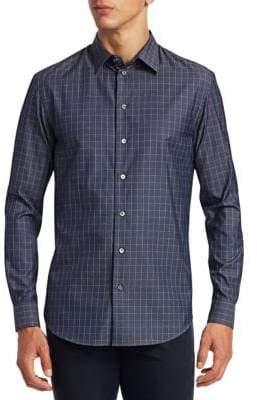 Emporio Armani Check Twill Button-Down Shirt