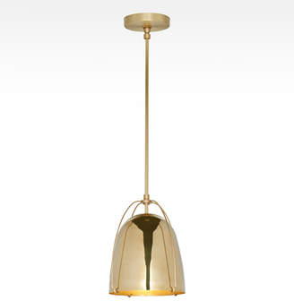 "Rejuvenation Haleigh 8"" Lacquered Brass Dome Pendant"