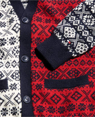 Tommy Hilfiger Men's Martin Mixed Fair Isle Cardigan