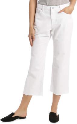 Grab Denim Cropped Wide Leg Jeans