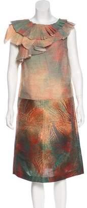 Marni Abstract Print Sheath Dress