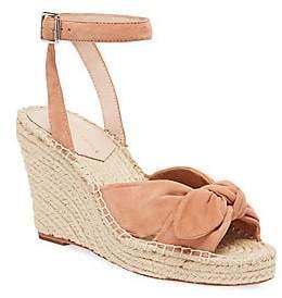 Loeffler Randall Women's Tessa Bow Espadrille Wedge Ankle Strap Sandals