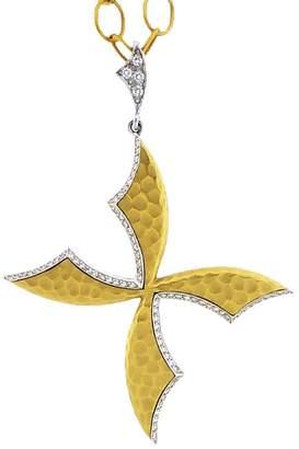 Cathy Waterman Scimitar Cross Diamond Charm