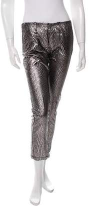Faith Connexion Snakeskin Patterned Cropped Pants w/ Tags