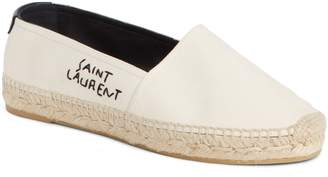 Saint Laurent Logo Embroidered Espadrille