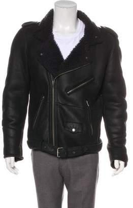 BLK DNM Shearling Moto Jacket