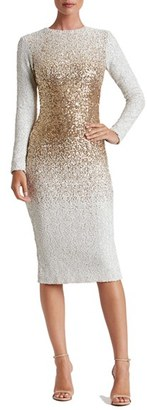 Women's Dress The Population Brooke Sequin Midi Dress $258 thestylecure.com