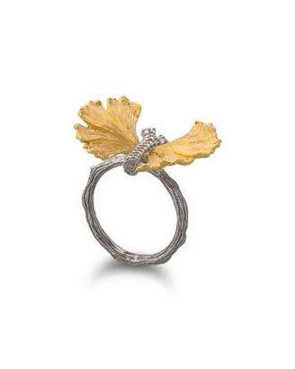 Michael Aram Ginkgo Butterfly Ring with Diamonds