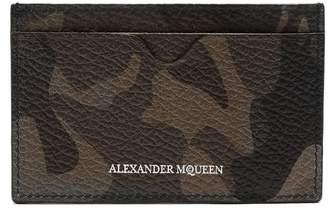 Alexander McQueen Camouflage leather cardholder