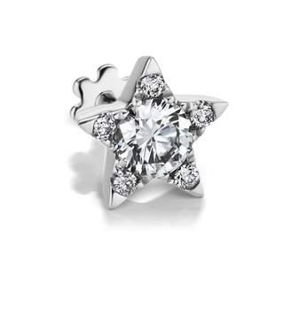 Maria Tash 7mm Diamond Star Threaded Single Earring - White Gold